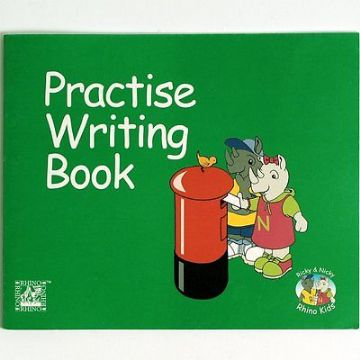 RHINO CURSIVE HANDWRITING LEARN TO WRITE PRACTICE WRITING BOOK 21 Pages A4